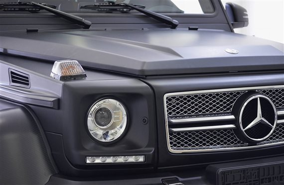 polep 3M Mercedes 6x6 black matte