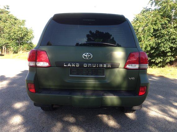 polep 3M Toyota Land Cruiser zelená matná