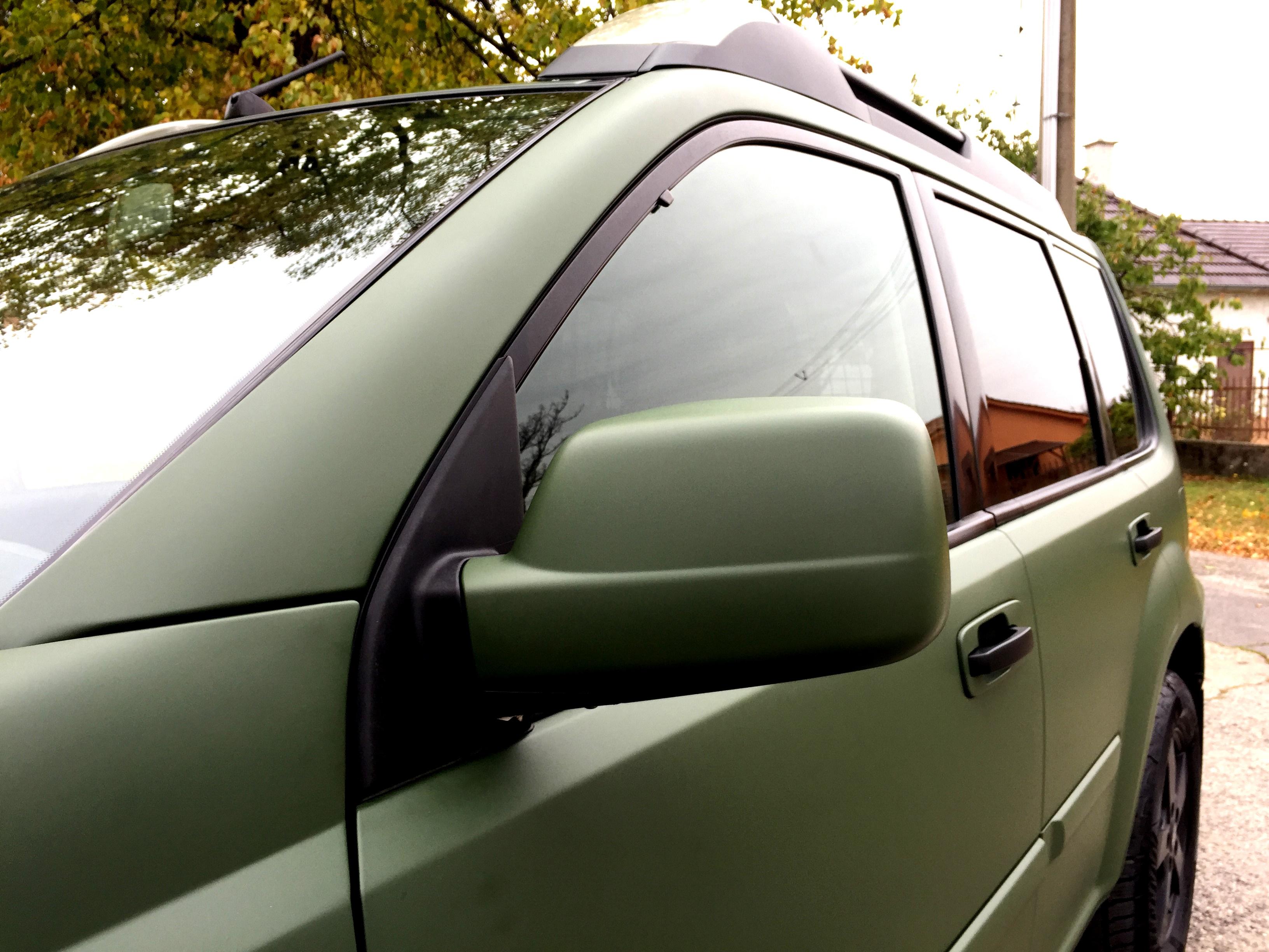 polep Nissan zelená matná od ABARTstyle